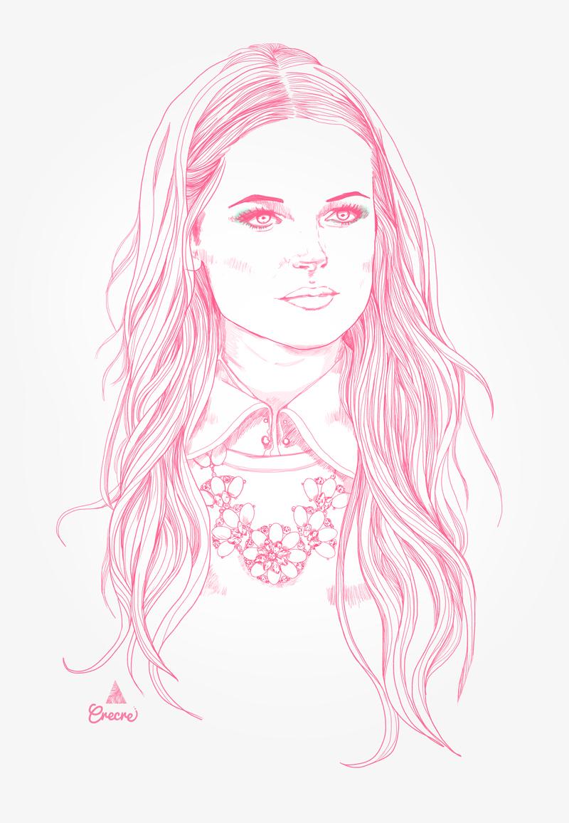 Croquis - pastel pink Girl - Crecre