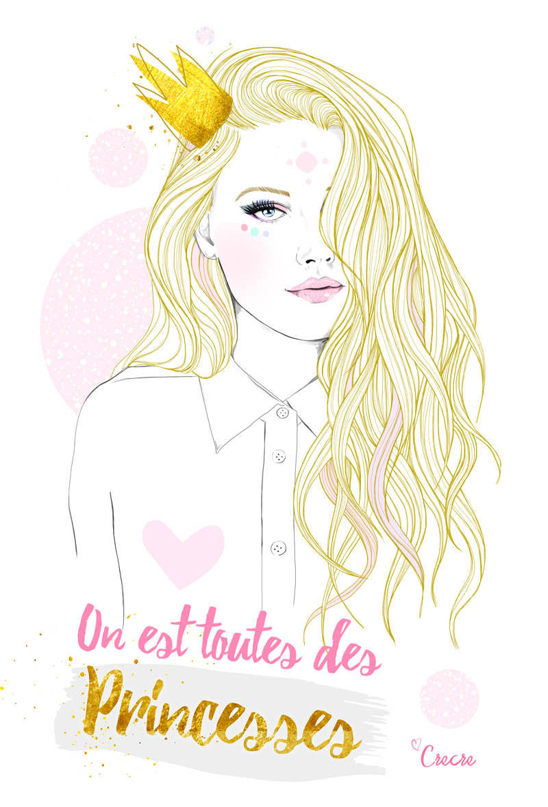 Princess butterfly illustrations crecre - Dessiner des princesses ...