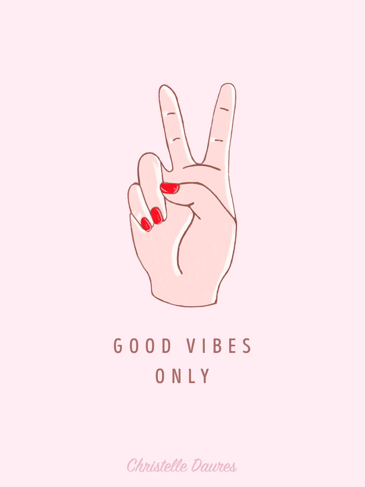 ipad-good-vibes-only-wallpaper-fond-ecran-dessin-pins