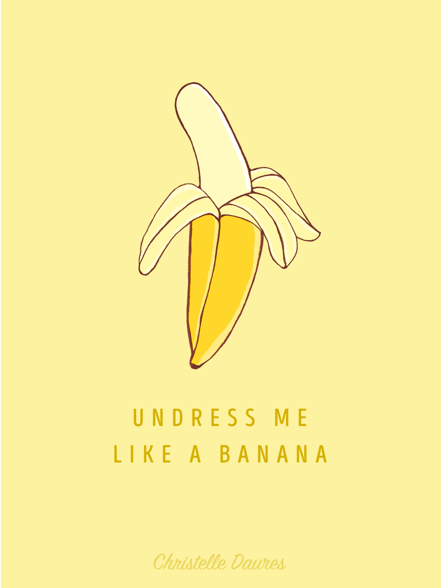 ipad-undress-me-like-a-banana-wallpaper-fond-ecran-dessin-pins